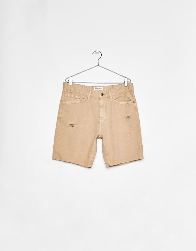 Jeans-Bermudashorts im Slim-Fit