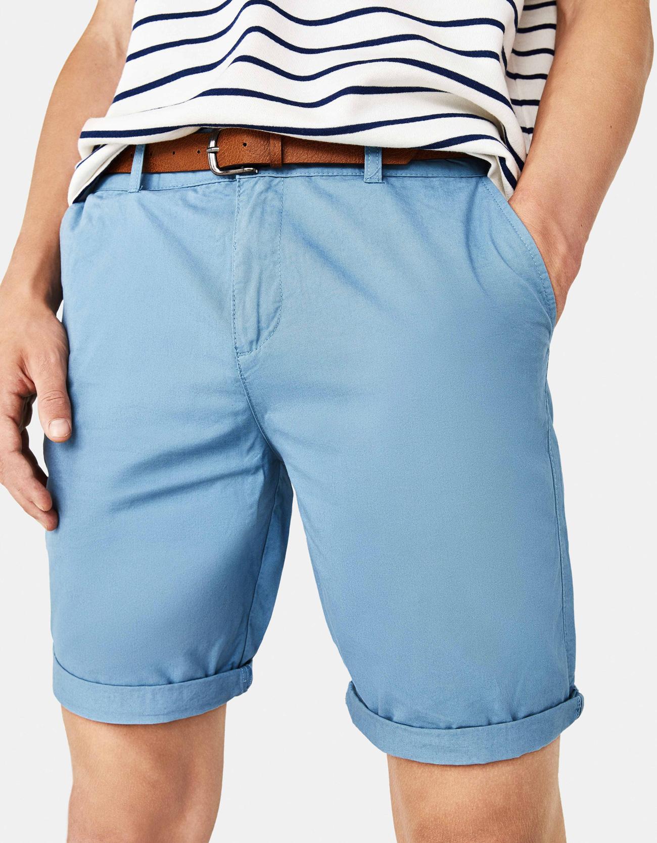8fa917722086c8 Belted Bermuda shorts - Printed - Bershka Jordan