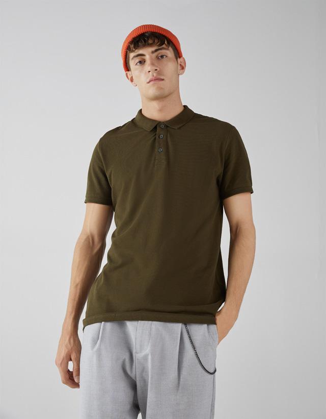 Unifarbenes Poloshirt