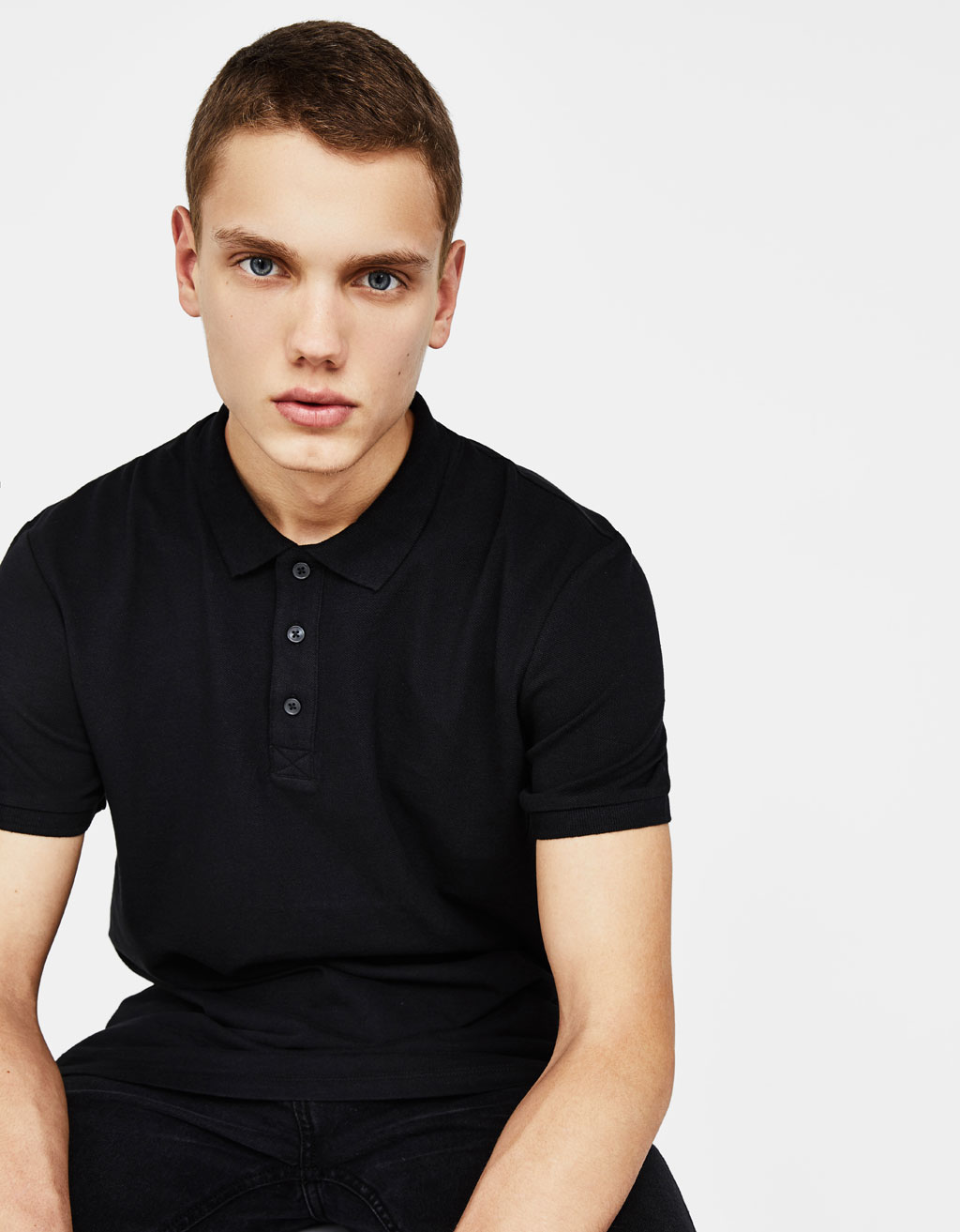 Solid polo shirt