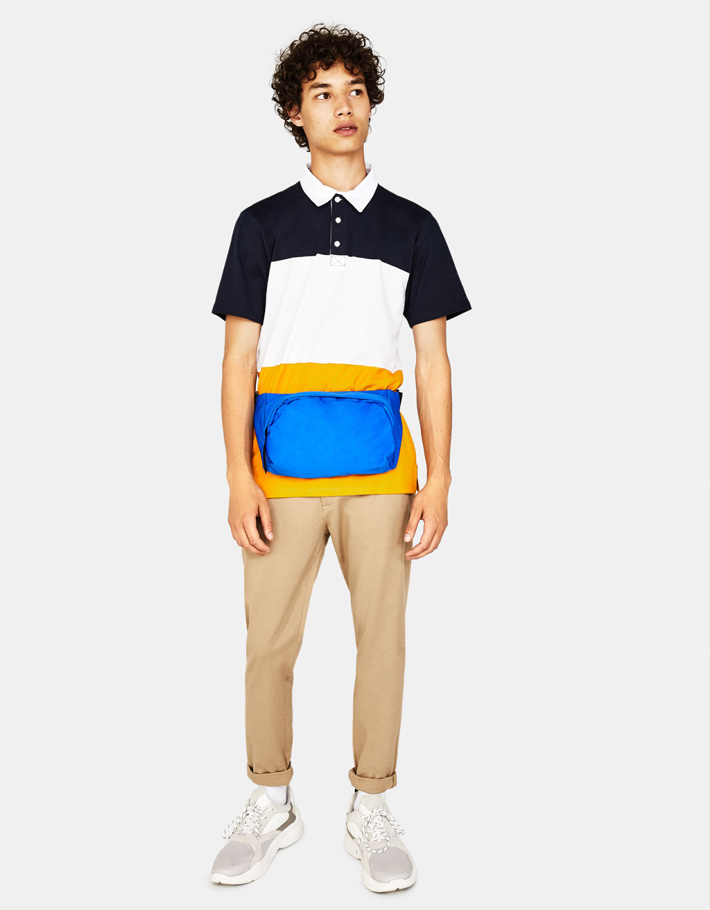 Stribet poloshirt