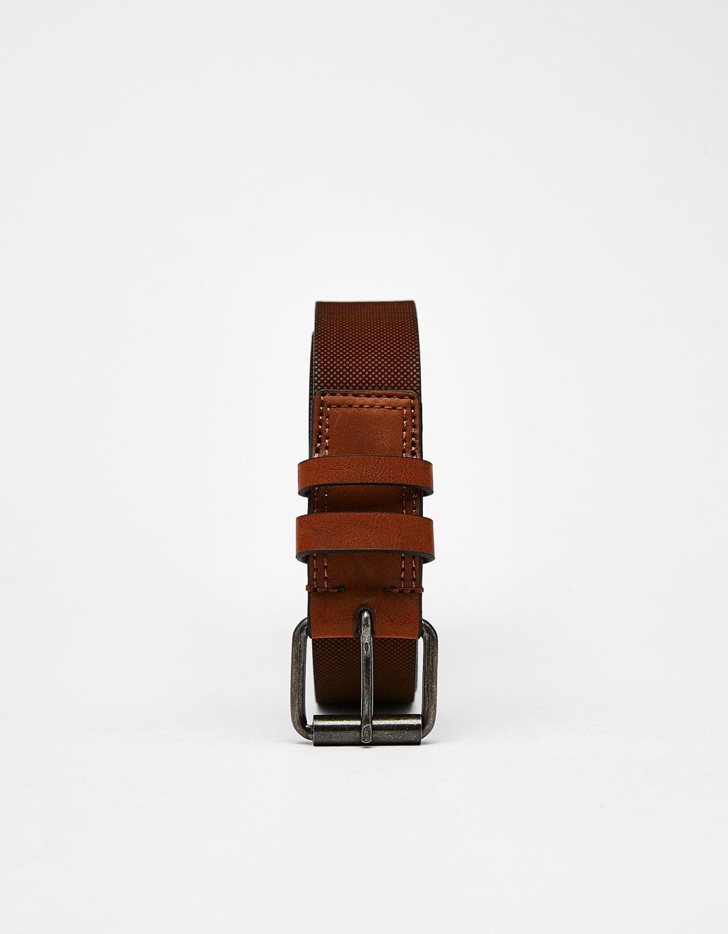 Belt with seam detail