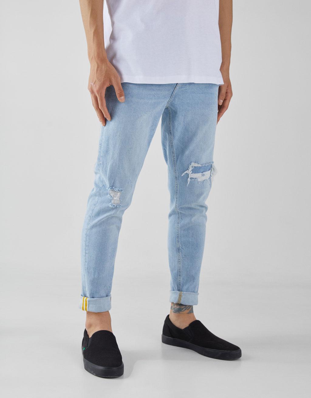 400bda0f3c Jeans Carrot Fit - Zapatos - Bershka Mexico