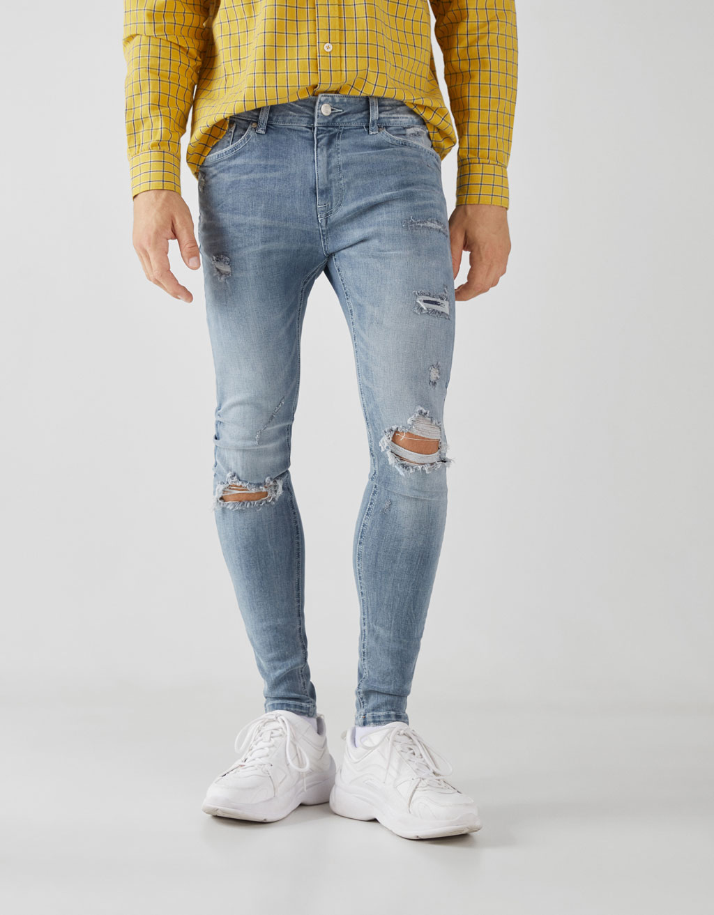Superskinny Jeans Met Scheuren Join Life by Bershka