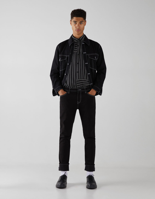Contrasting skinny jeans