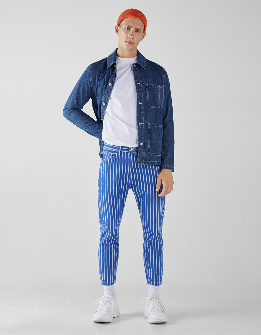 Slim fit hlače cropped