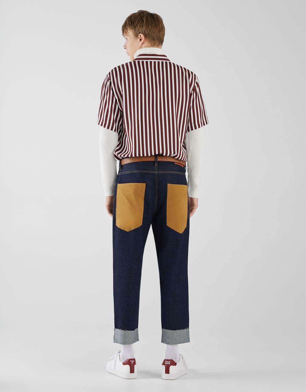 Jeans Dad Fit Combinati by Bershka