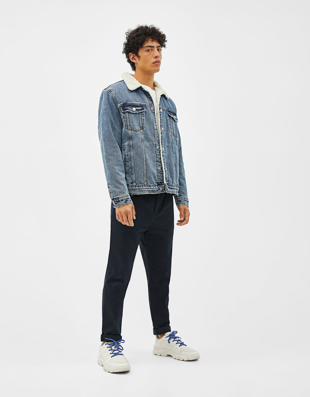 Loose fit chino jean
