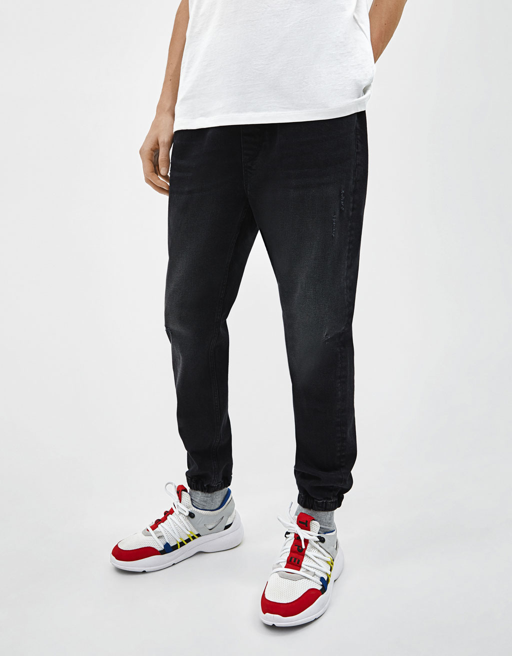 Pantalon rétro sport denim