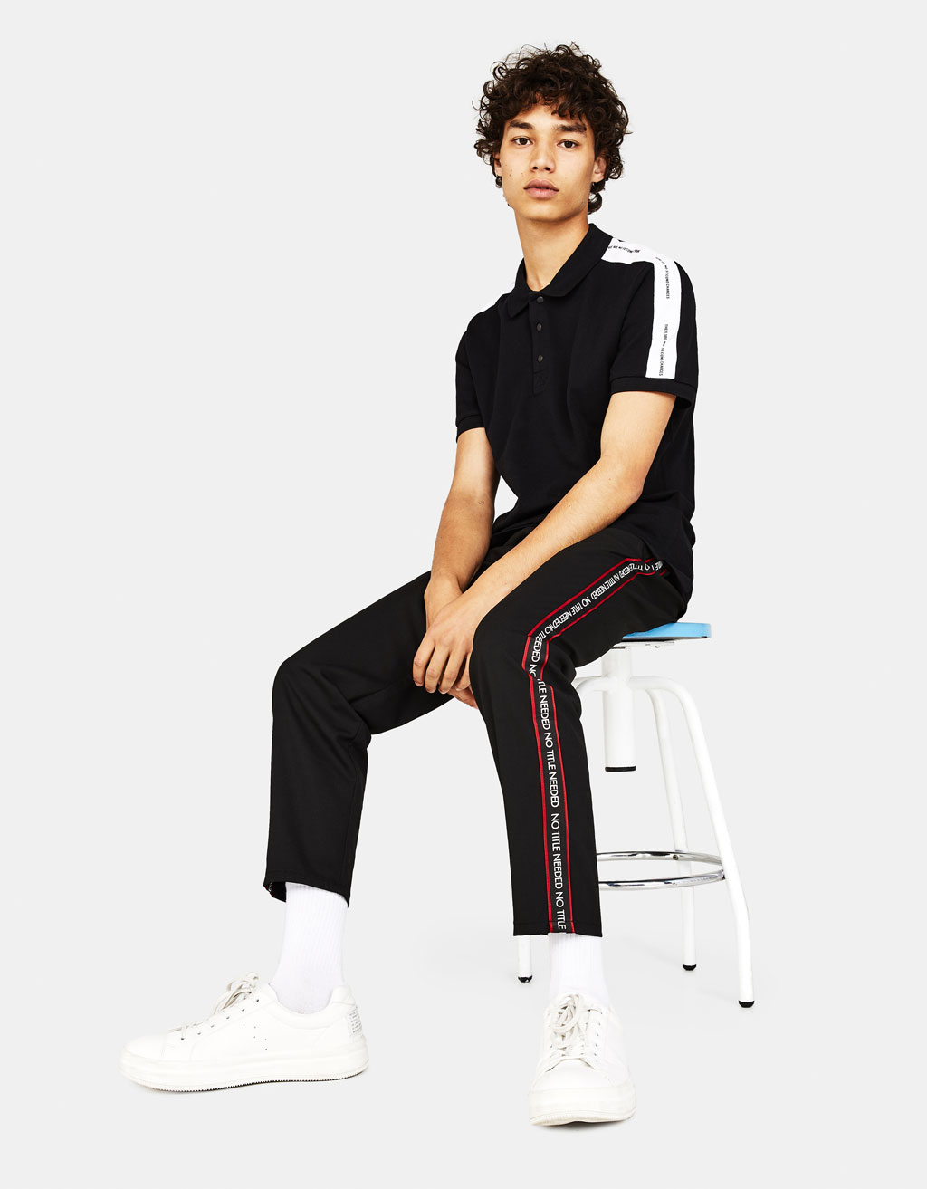 Jogging trousers with side taping