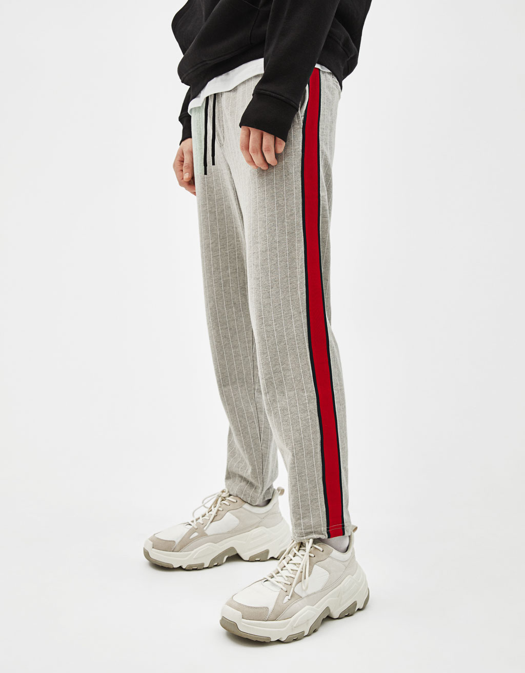 Jogging trousers with drawstrings