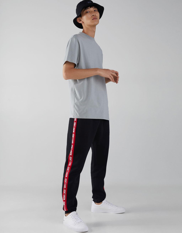 Pantalones largos con estilo Multi bolsillo de los hombres Pantalones deportivos de tobillo con bandas zZZbZ1