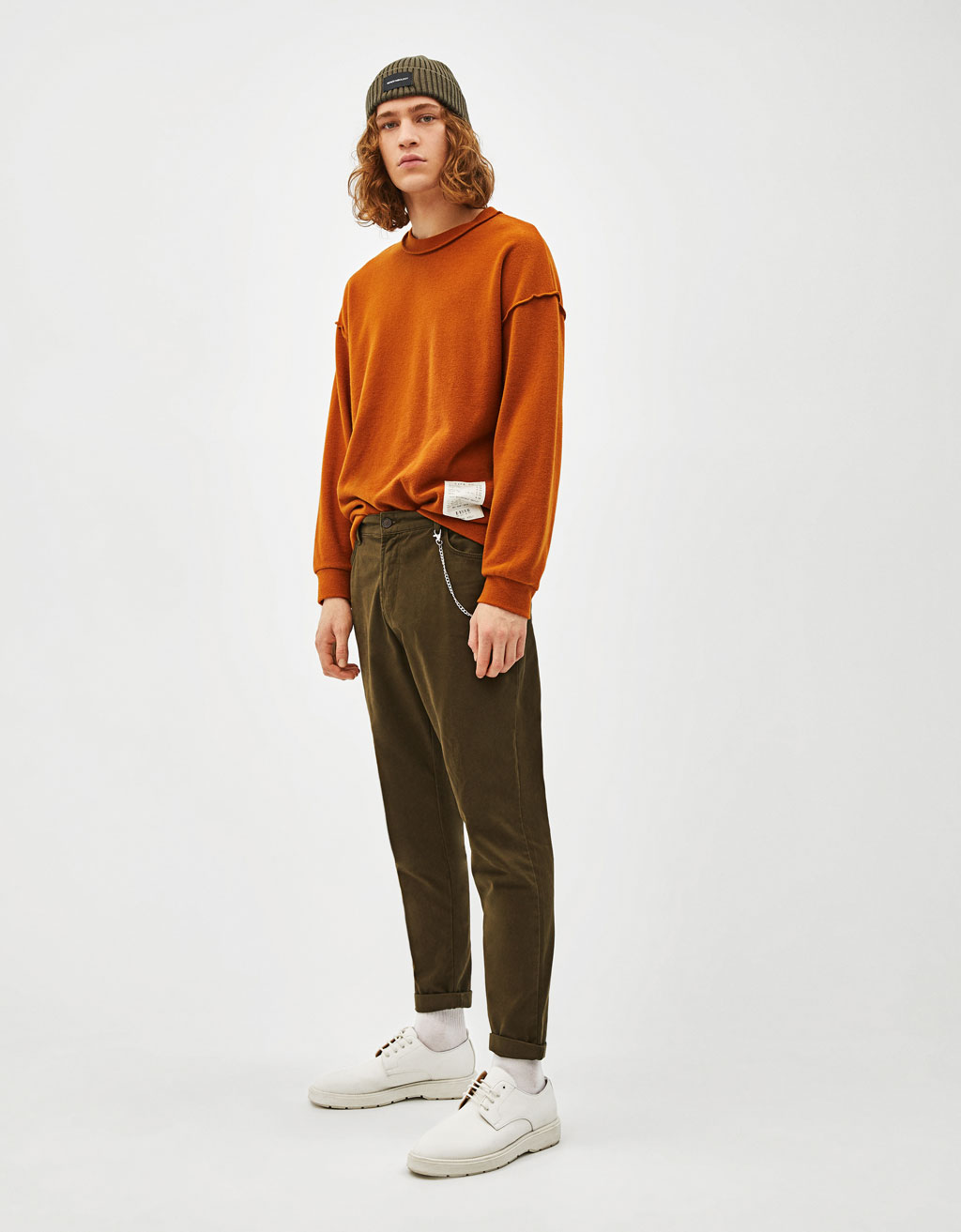 Slim carrot fit trousers