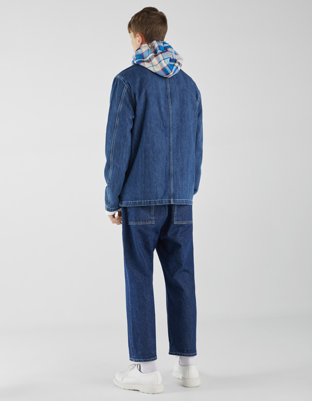 Jeans-Hemdjacke mit Taschen