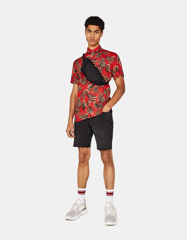 Hemd mit Tropical-Print