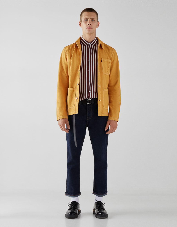 Camisa con estampado de rayas