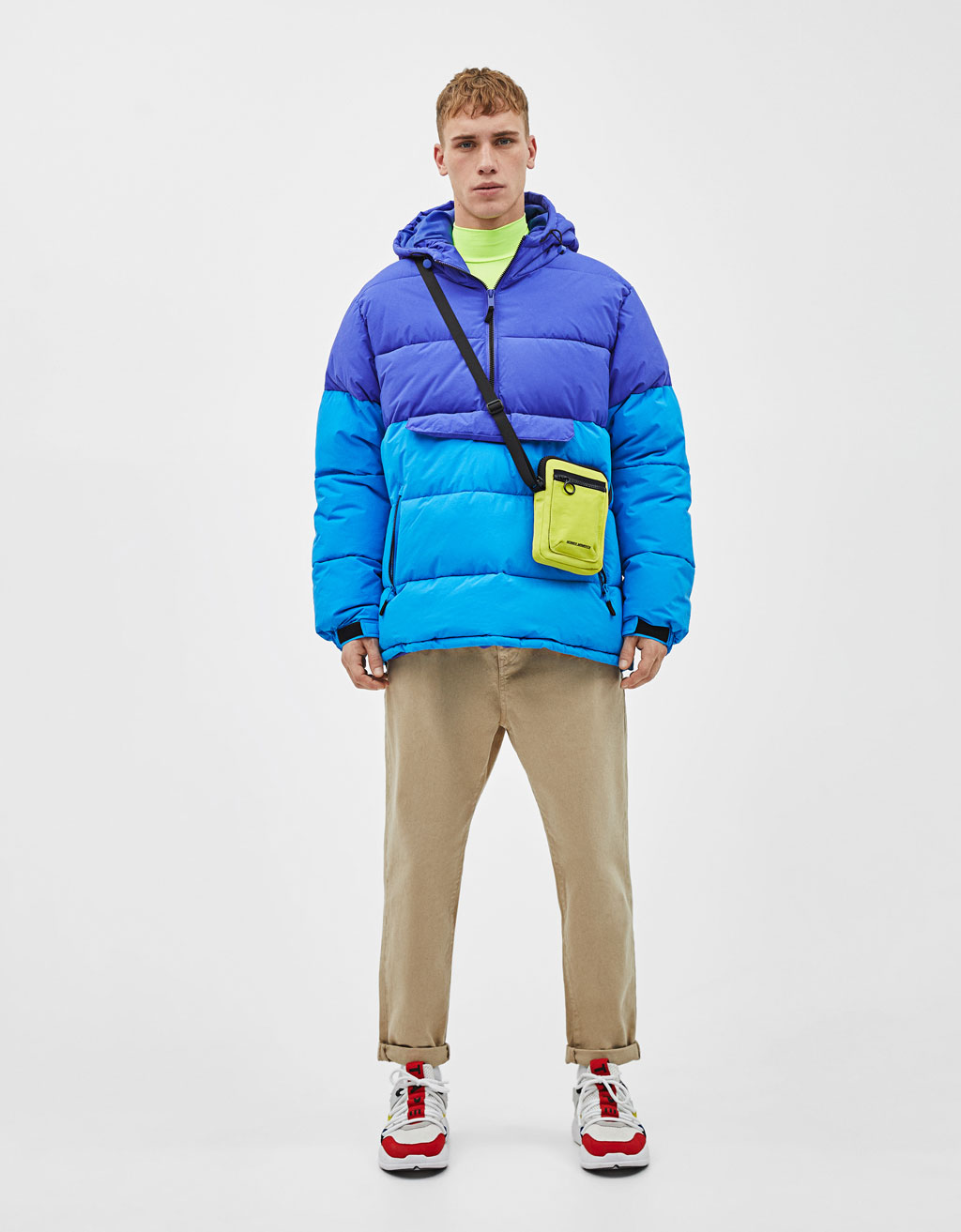 Pouch pocket puffer jacket