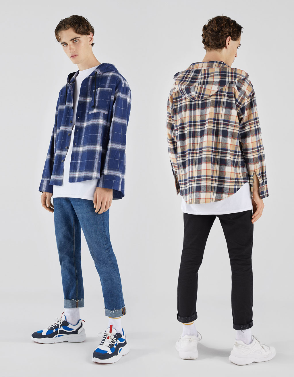 Hooded oversized shirt