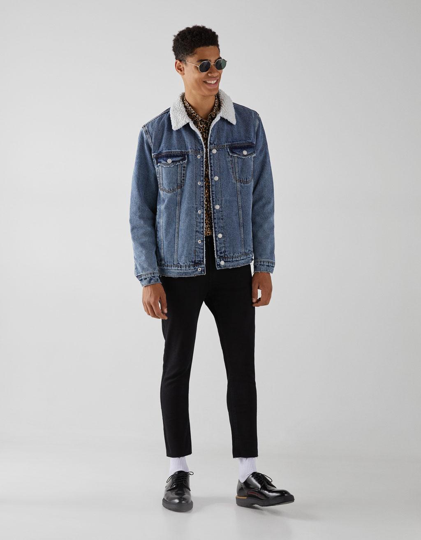 Zara chaqueta vaquera negra hombre