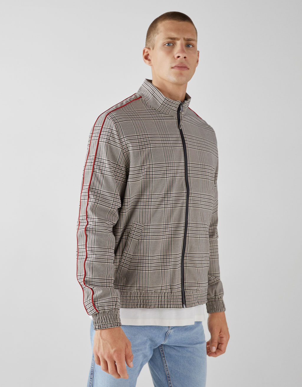 Checked lightweight jacket