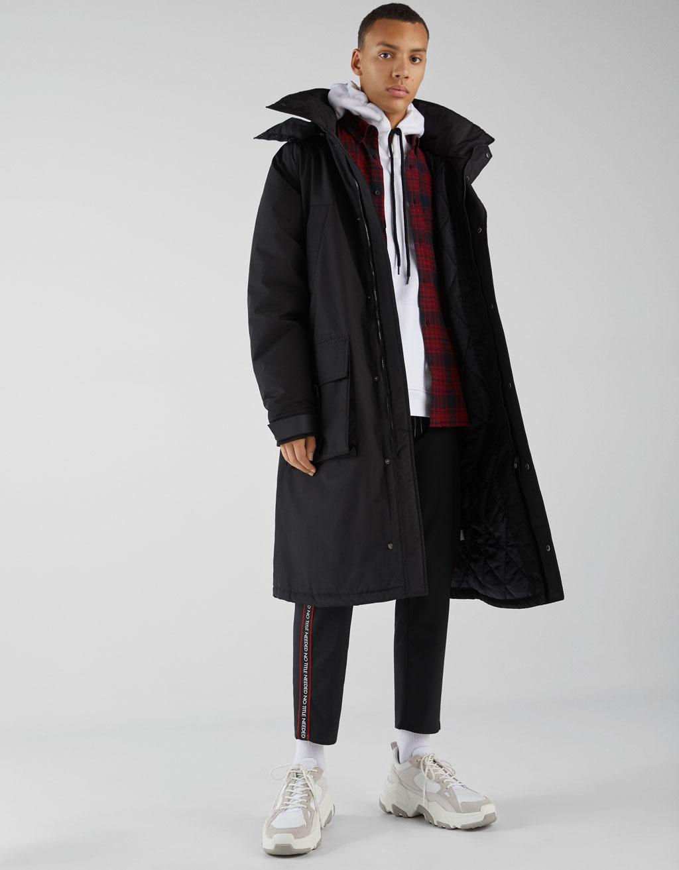 Oversized parka-style coat