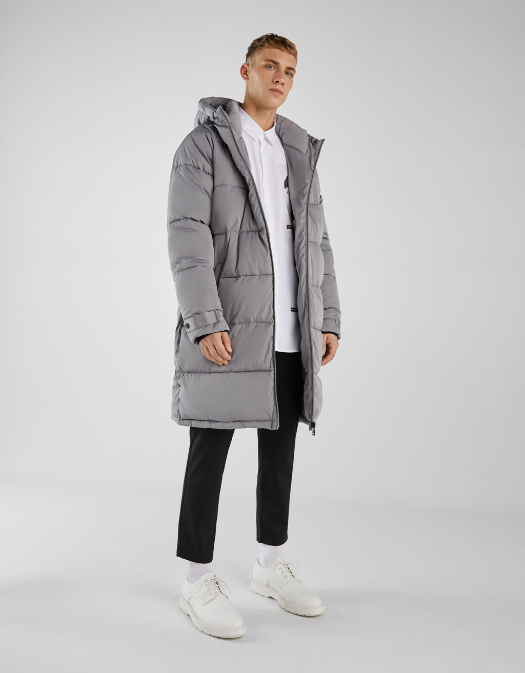 Puffer hooded coat