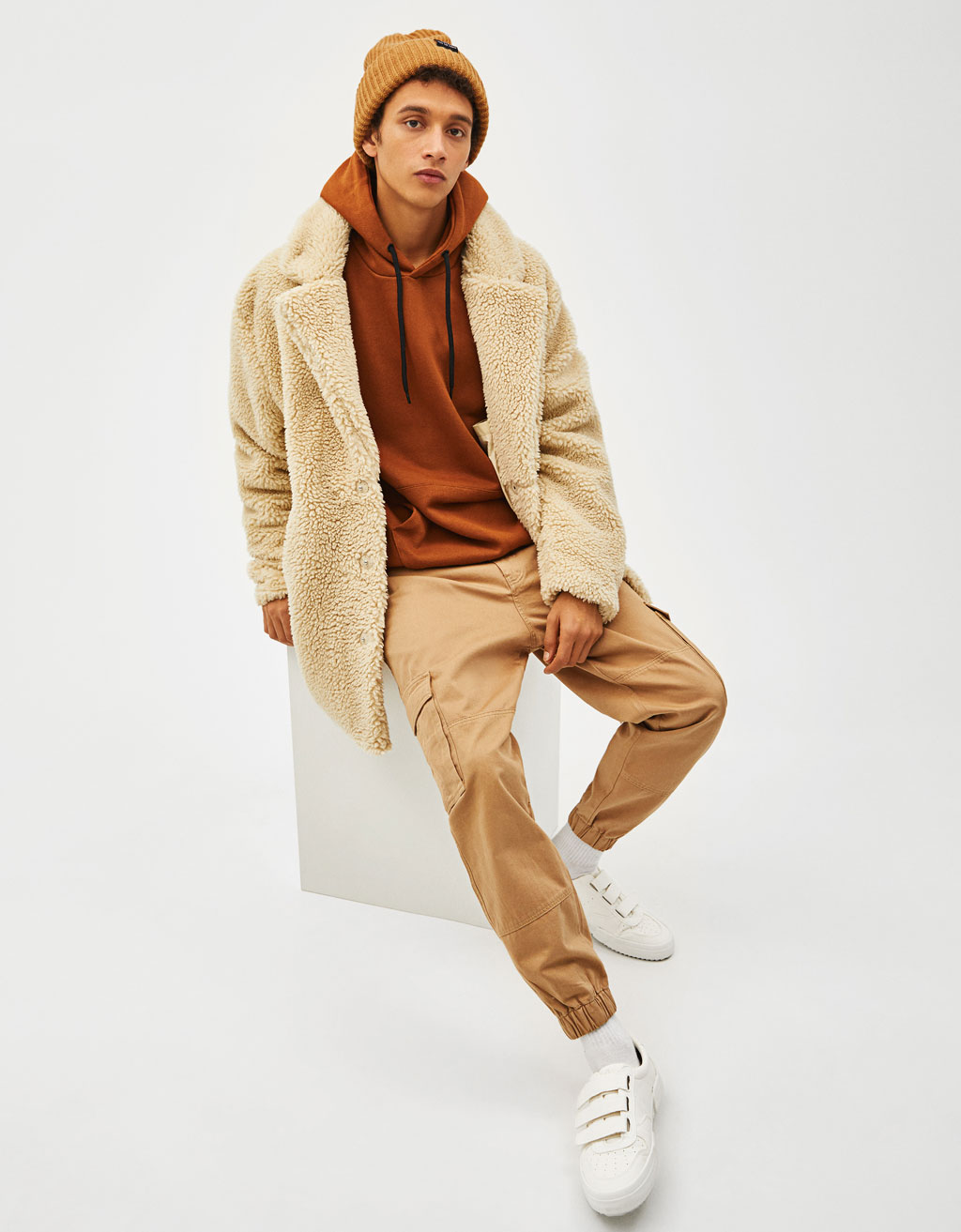 Manteau Imitation Peau De Mouton Manteaux Bershka France