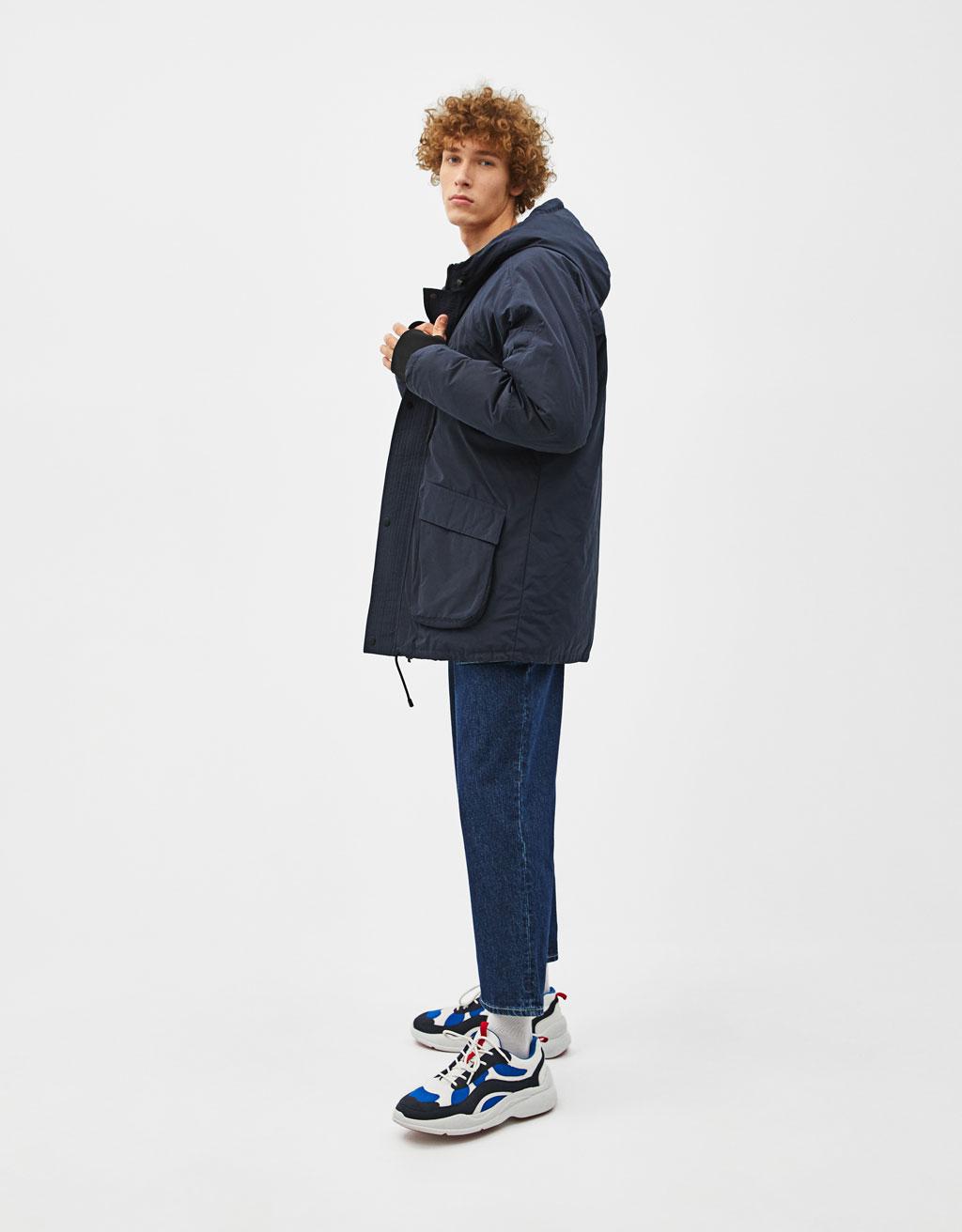 Parka-style coat