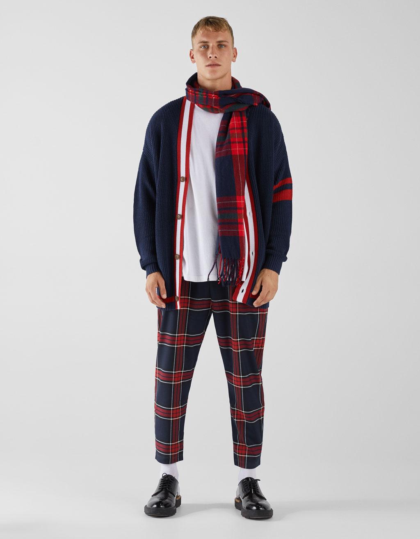 Contrast oversized cardigan