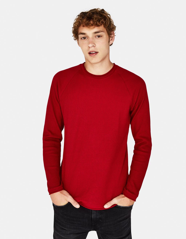 Vaffelstrikket trøje