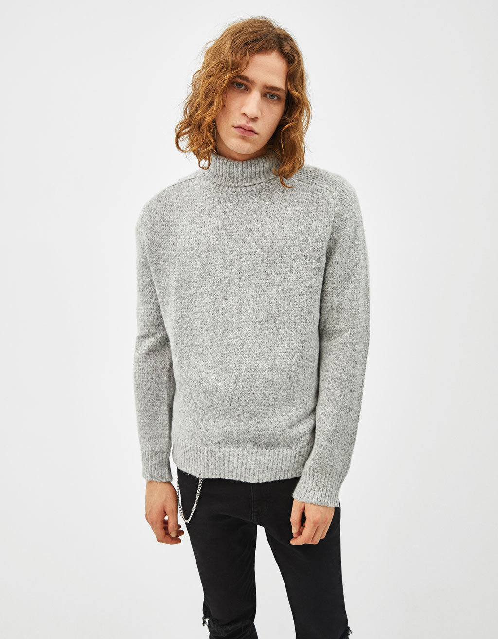 High-necked jumper