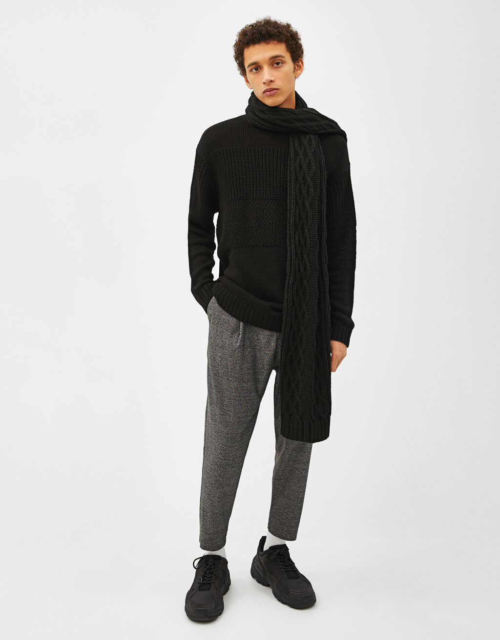 Sweater de malha combinada