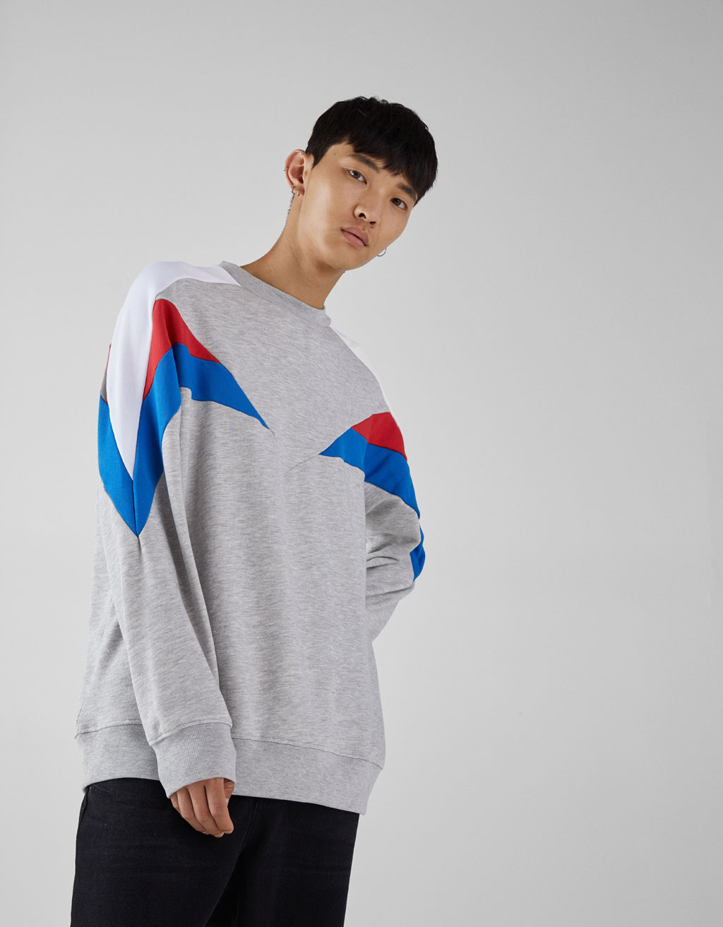 Sweatshirt with geometric details