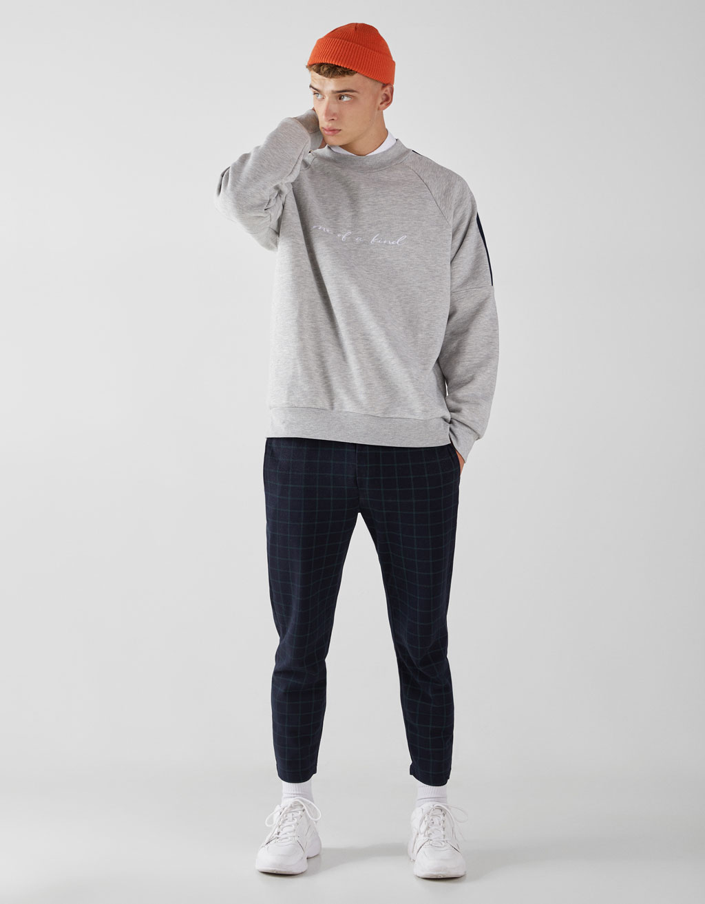 Sweatshirt with side bands