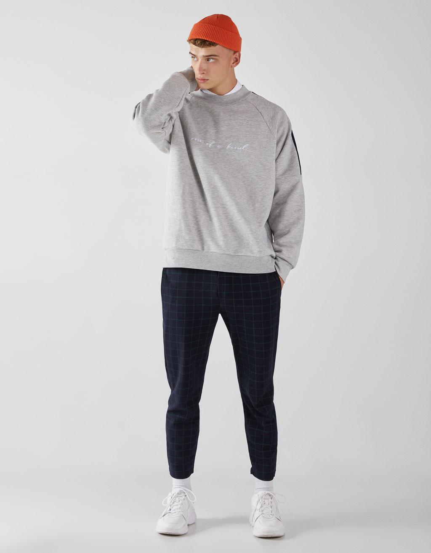 Yandan şeritli sweatshirt