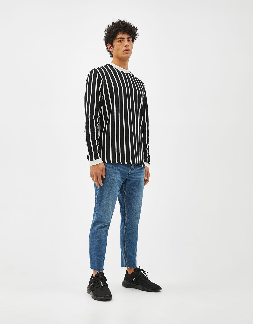 Gestreept sweatshirt