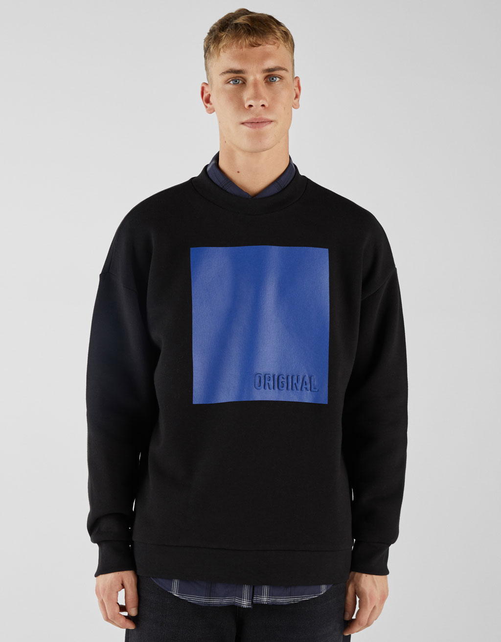 Sweatshirt with raised print