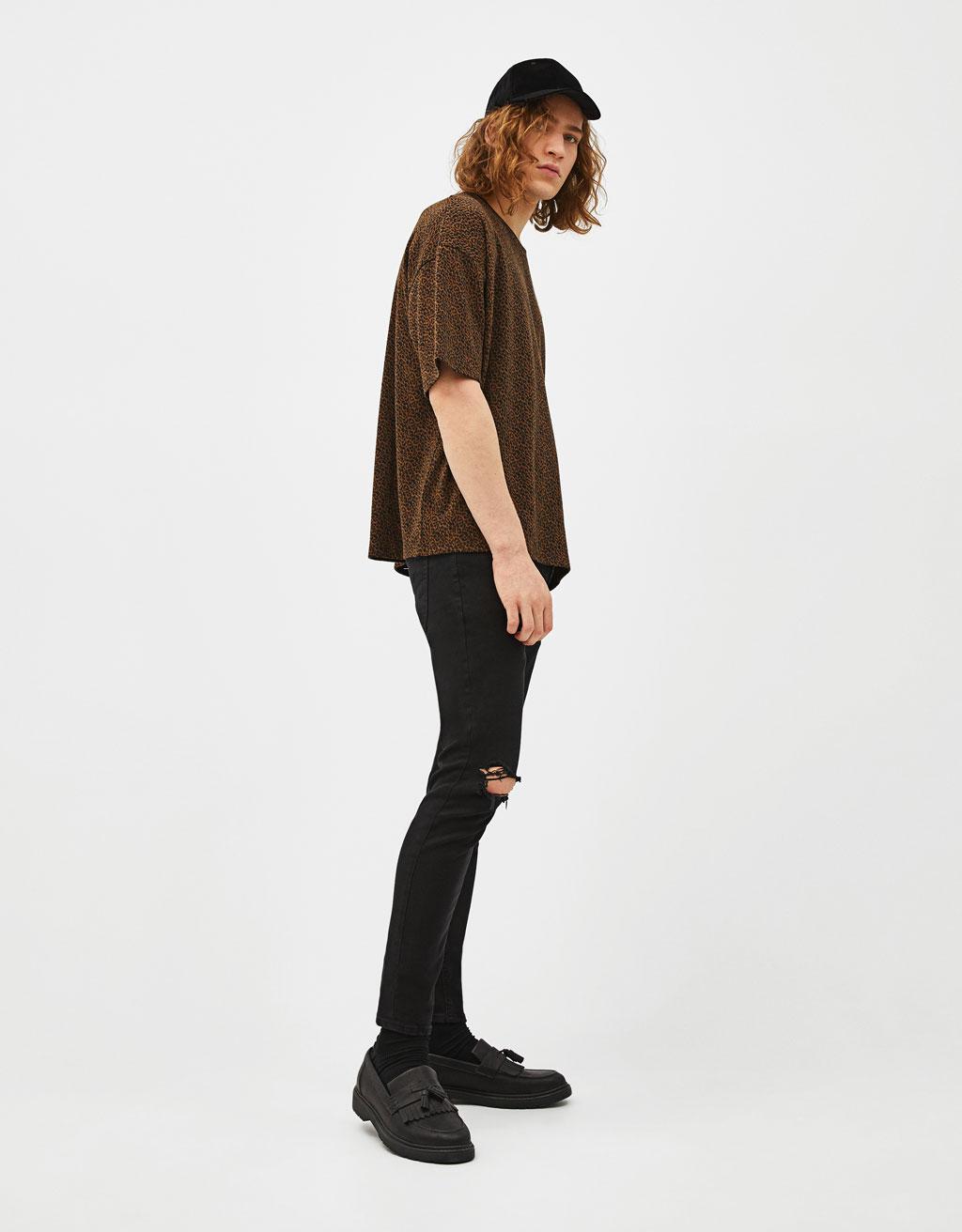 T-shirt oversize léopard