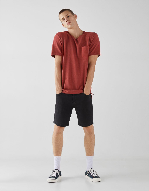 T-shirt i ottoman-tyg