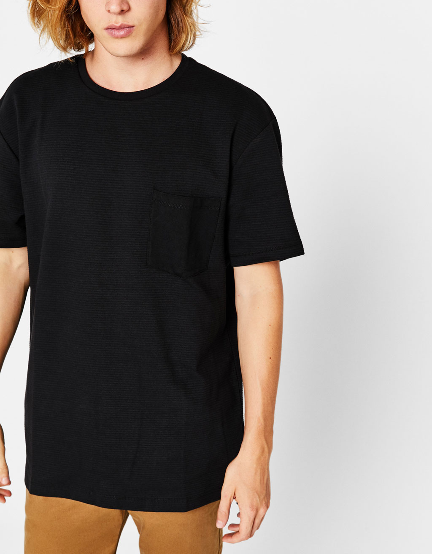T-Shirt mit Ottomanstruktur