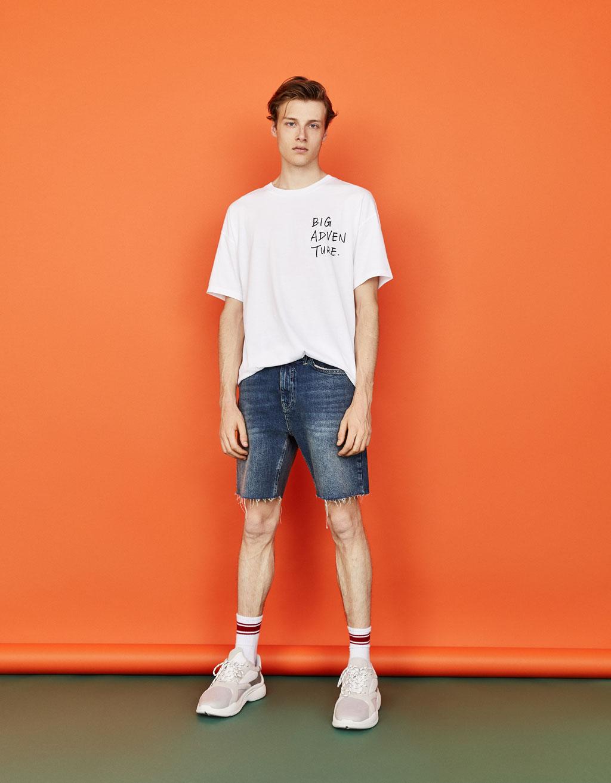 T-shirt coupe carrée imprimé