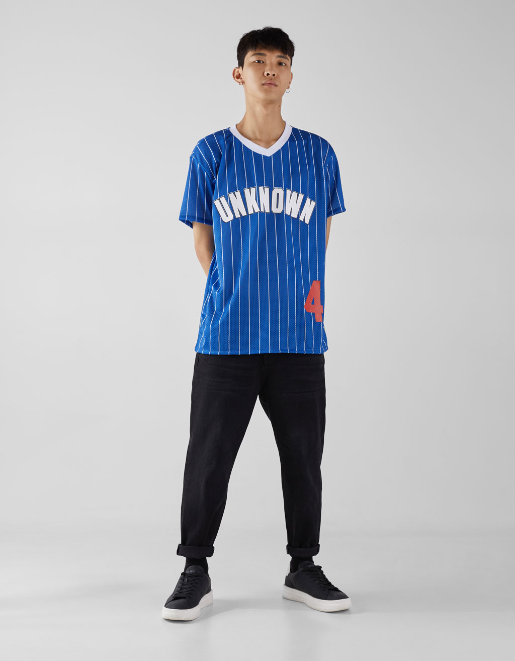 "Baseball-Shirt aus Mesh-Gewebe ""UNKNOWN"""