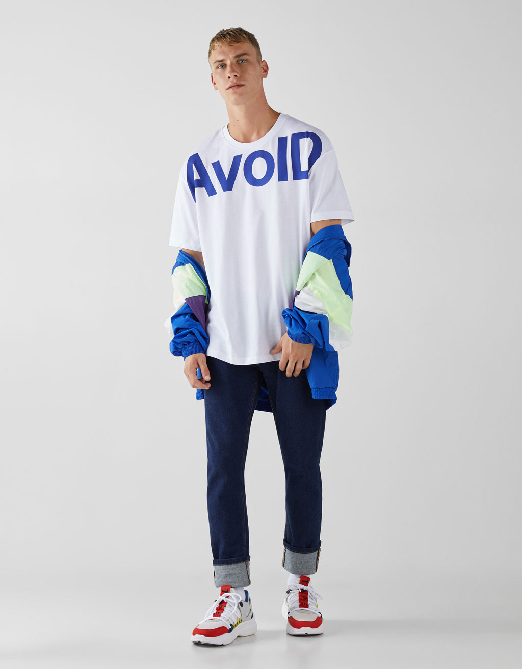 Loose fit T-shirt with slogan