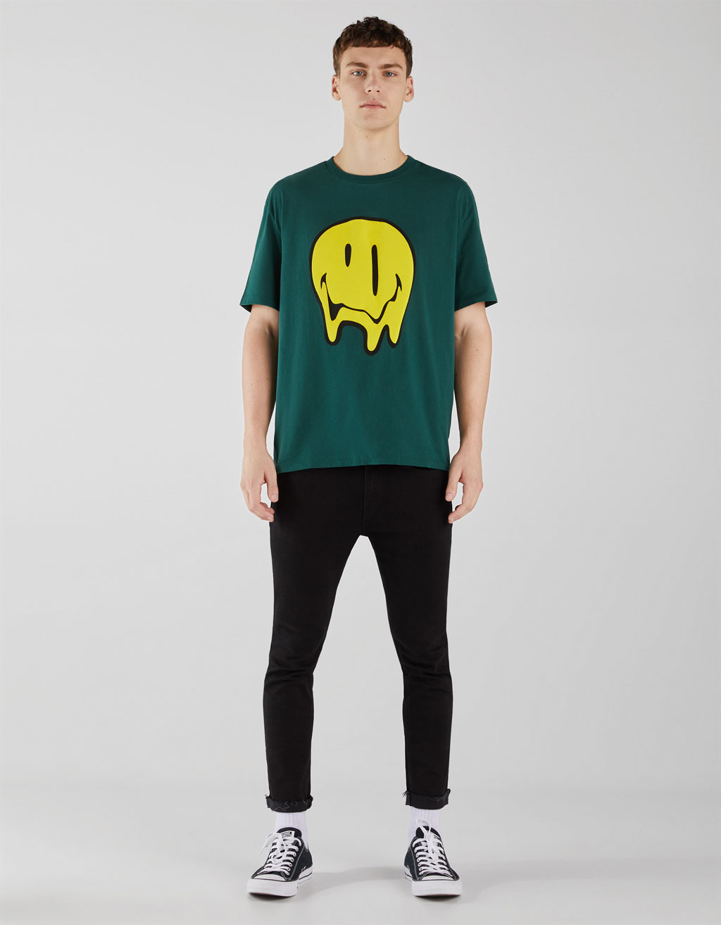 Smiley face print T-shirt