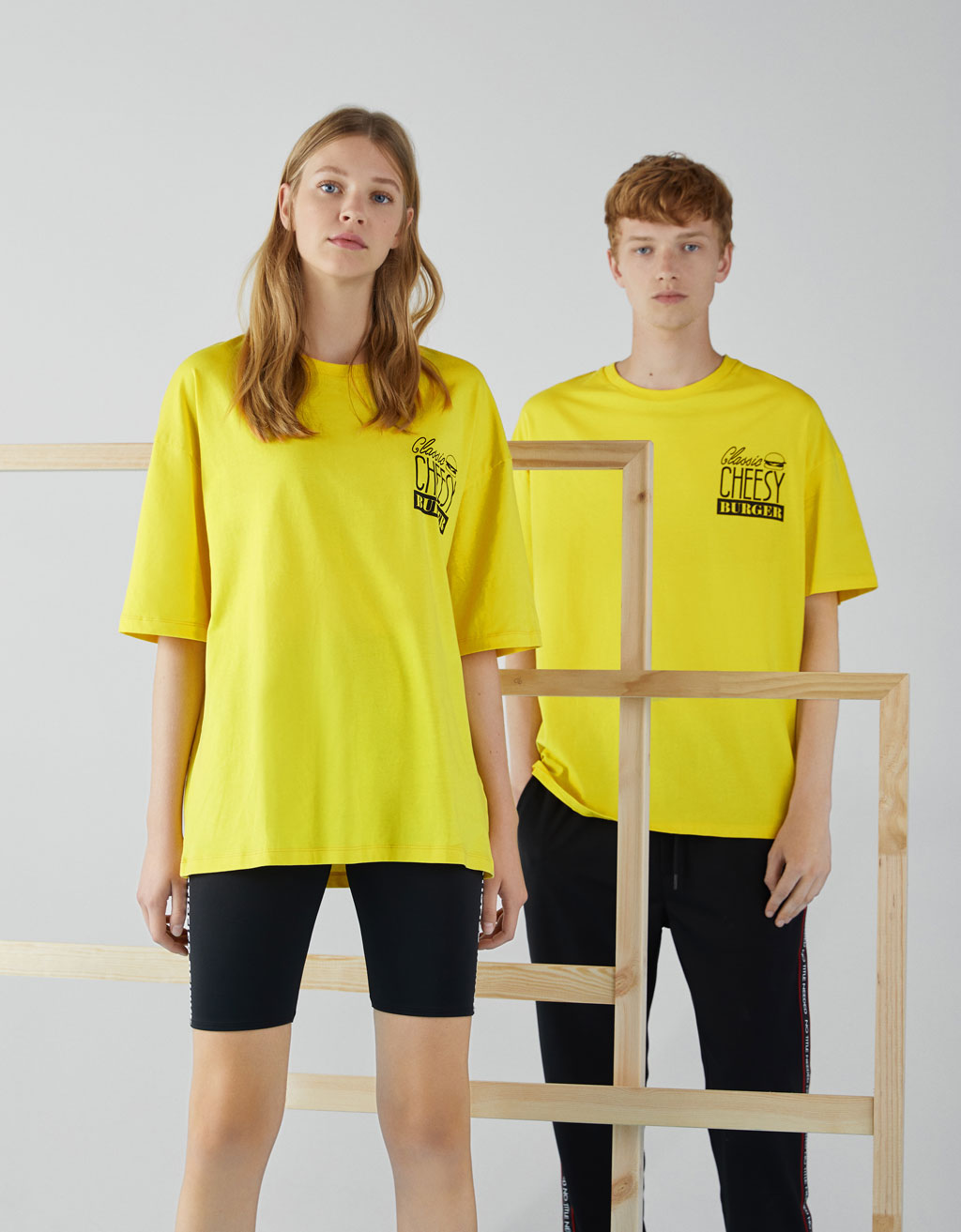 Boxy T-shirt with slogan