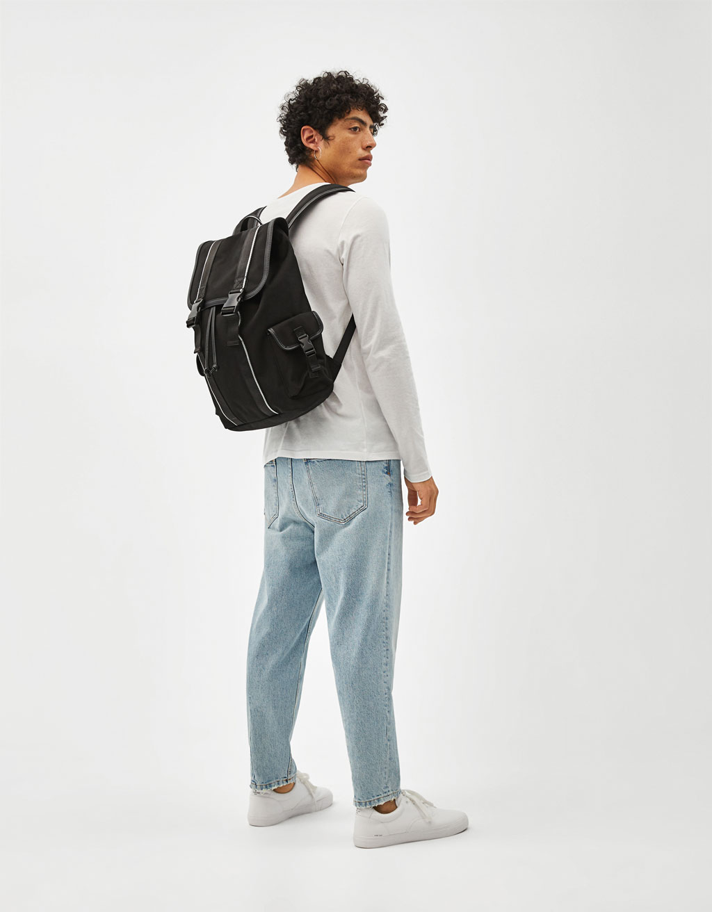 Backpack with tab detail