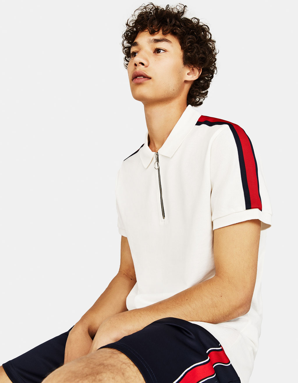 Polo shirt with zipper