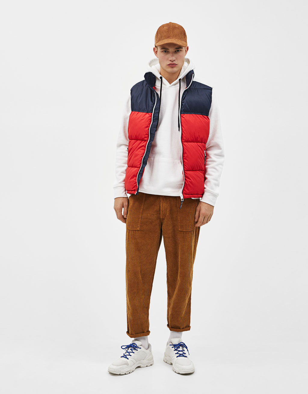 Color block puffer vest