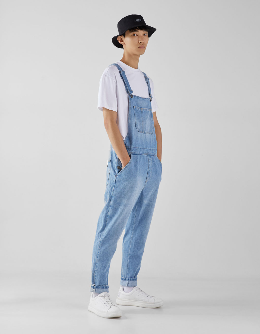 Salopette denim lunga