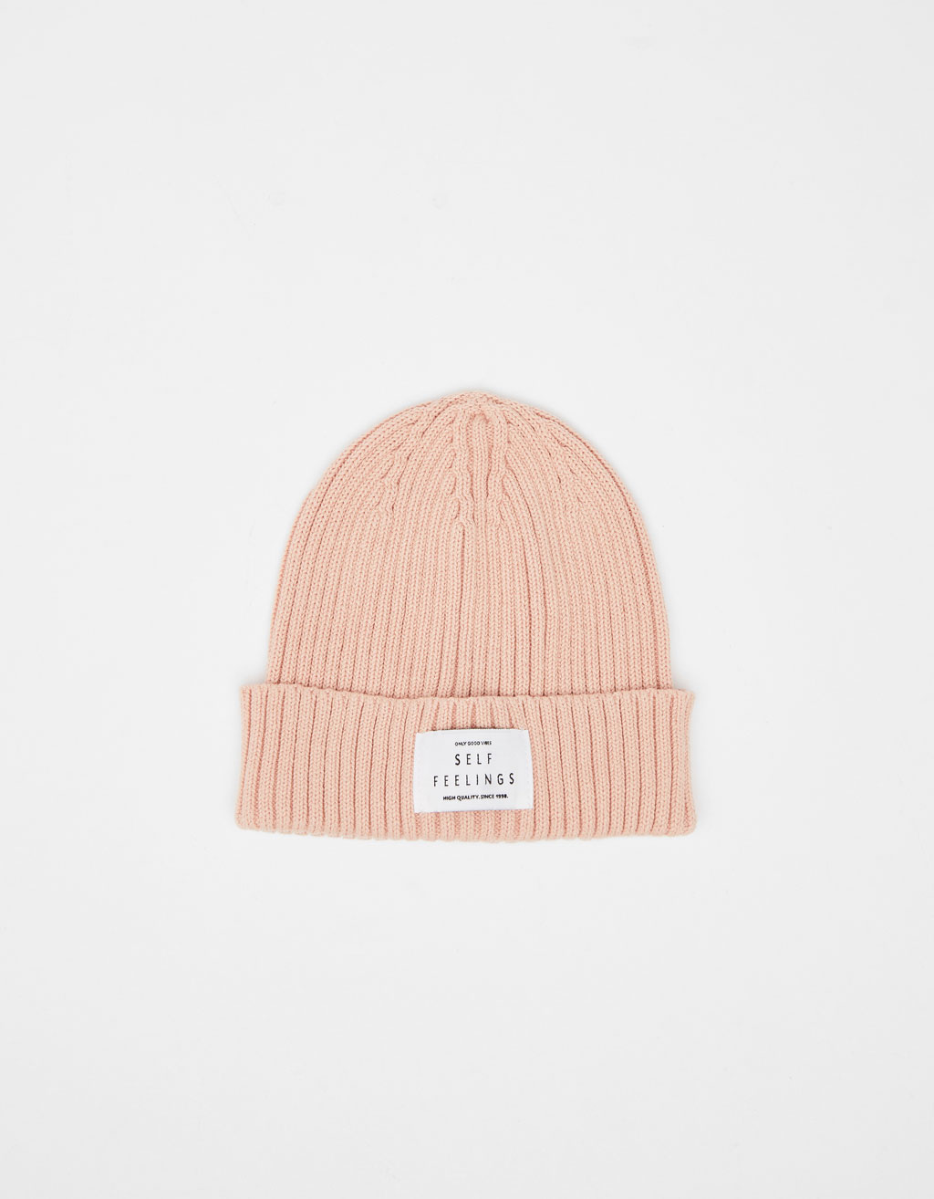 Tricot beanie met patch